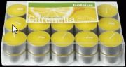 18 Yellow Citronella Tealight Candles